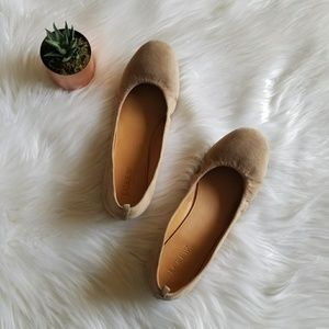 J.Crew nude suede flats round toe slip ons